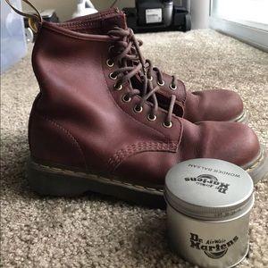 f9832e3677c Dr. Martens Shoes - Dr. Marten s 1460 Oxblood Hardlife Leather Boots